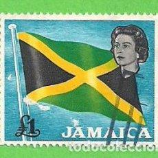 Sellos: JAMAICA - MICHEL 234 - BANDERA Y REINA ISABEL II. (1964).. Lote 68151213