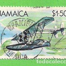 Sellos: JAMAICA - MICHEL 221 - HIDROAVIONES - SIKORSKY S-38. (1984).. Lote 68152997
