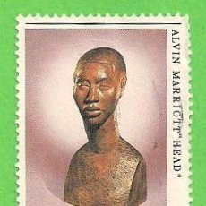 Sellos: JAMAICA - MICHEL 600 - YVERT 613 - NAVIDAD - ARTE - ESCULTURAS. (1984).. Lote 68153353