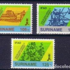 Sellos: SURINAM 1988 IVERT 1132/4 *** 10º ANIVERSARIO DE I.F.A.D. - FONDO INVESTIGACIÓN DESARROLLO AGRICOLA. Lote 68554701