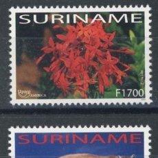 Sellos: SURINAM 2003 IVERT 1677/8 *** FAUNA Y FLORA - SERIE AMERICA - UPAEP. Lote 69506661