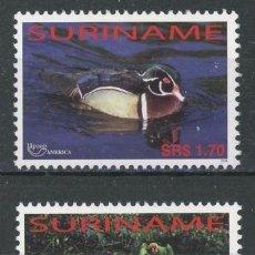 Sellos: SURINAM 2004 IVERT 1734/5 *** FAUNA - AVES - SERIE AMERICA - UPAEP. Lote 69507017