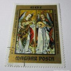 Sellos: MAGYAR POSTA ANGYAL LANTTAL HEGEDUVEL ANGEL ANGELES RELIGIOSO SELLO E1. Lote 69783377
