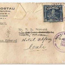 Stamps - EL SALVADOR. CORREO AÉREO 1940. SOBRE VOLADO DESDE EL SALVADOR A COLOMBIA - 69946281