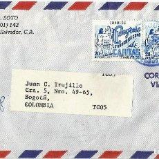 Sellos: EL SALVADOR. CORREO AÉREO 1975 HISTORIA POSTAL.. Lote 69946349