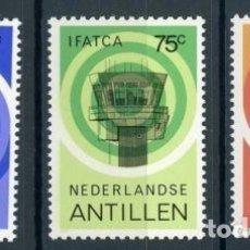 Sellos: ANTILLAS HOLANDESAS 1982 IVERT 658/60 *** AÑO INTERNACIONAL DE LOS CONTROLADORES AEREOS. Lote 70571533