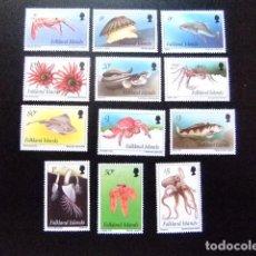 Sellos: MALVINAS FALKLAND ISLANDS 1994 FAUNA LA VIE MARINE YVERT N º 618 / 629 ** MNH. Lote 72931771