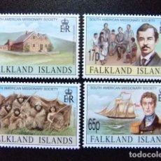 Sellos: MALVINAS FALKLAND ISLANDS 1994 MISSIONNAIRES POUR L´AMERIQUE YVERT N º 640 / 643 ** MNH. Lote 72932283