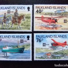 Sellos: MALVINAS FALKLAND ISLANDS 1996 EXPO CAPEX 96 TRANSPORT DU COURRIER YVERT N º 681 / 684 ** MNH. Lote 72932567
