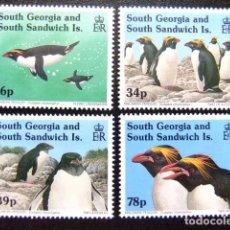 Sellos: SOUTH GEORGIA - SOUTH SANDWICH ISLANDS 1993 FAUNE LE MANCHOT PINGÜINO YVERT N º 231 / 234 ** MNH. Lote 72932895