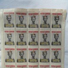 Sellos: 20 SELLOS FIESTAS DE LA MERCED SEPTIEMBRE 1956.. Lote 73591527