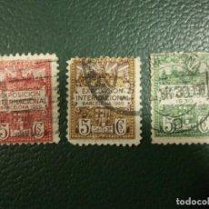 Sellos: 3 SELLOS EXPOSICIÓN INTERNACIONAL BARCELONA 1929 Y 1930 SERIE 2ª 3ª 4ª 5 CTS CENTIMOS - SELLO ESPAÑA. Lote 73657483