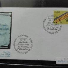 Sellos: LOS DERECHOS INVIOLABLES DEL PUEBLO PALESTINO GINEBRA 81. Lote 73794507