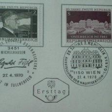 Sellos: PRIMER DÍA CIRCULACIÓN AUSTRIA 1970. Lote 73931937