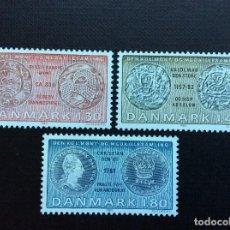 Sellos: MONEDAS. DINAMARCA Nº YVERT 713/5*** AÑO 1980. MONEDAS Y MEDALLAS DEL MUSEO NACIONAL. Lote 193187626