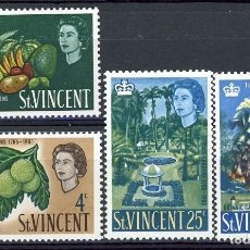 Sellos: SAN VICENTE 1965 IVERT 201/4 * 2º CENTENARIO DEL JARDIN BOTÁNICO DE KINGSTOWN - FLORA. Lote 75386115