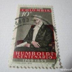 Sellos: CORREOS DE COLOMBIA HUMBOLDT CENTENARIO 1769 1859 10C L6. Lote 75558039
