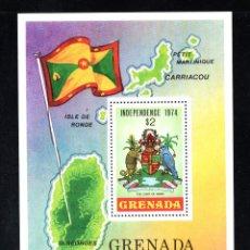 Sellos: GRANADA HB 31** - AÑO 1974 - INDEPENDENCIA - ESCUDO DE GRANADA. Lote 75851387