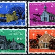 Sellos: GRANADINAS DE SAN VICENTE 1975 IVERT 69/72 * NAVIDAD - IGLESIAS - RELIGIÓN. Lote 77307473