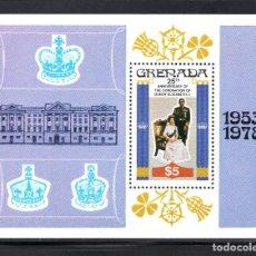Sellos: GRANADA HB 71** - AÑO 1978 - 25º ANIVERSARIO DE LA CORONACION DE LA REINA ISABEL II. Lote 78726221