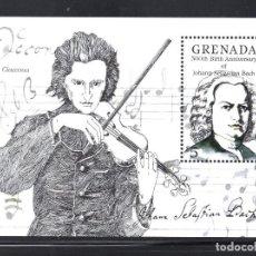 Sellos: GRANADA HB 136** - AÑO 1985 - MUSICA - TRICENTENARIO DEL NACIMIENTO DE J. S. BACH. Lote 79087965