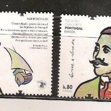 Sellos: PORTUGAL ** & EMISIÓN CONJUNTA DE BRASIL, CRUZ E SOUSA, FERNANDO PESSOA 2012. Lote 269326473