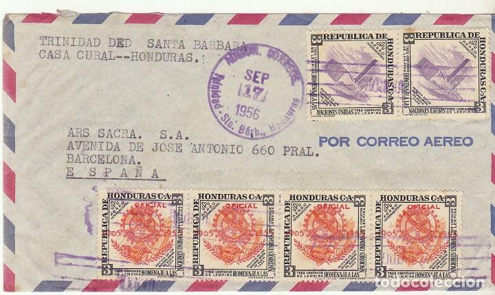 HONDURAS :TRINIDAD DE SANTA BARBARA A BARCELONA. 1956. (Sellos - Extranjero - América - Otros paises)
