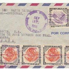 Sellos: HONDURAS :TRINIDAD DE SANTA BARBARA A BARCELONA. 1956.. Lote 80075033