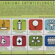 Sellos: NACIONES UNIDAS (SEDE VIENA) - OBJETIVOS DEL MILENIO (2009) **. Lote 82940924