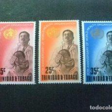 Sellos: TRINIDAD & TOBAGO 1968 OMS YV 220 / 22 ** MNH. Lote 83188588