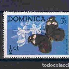 Sellos: MARIPOSA DE DOMINICA. SELLO AÑO 1975. Lote 83236916