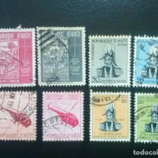 Sellos: HAITÍ , CORREO AÉREO YVERT Nº 97 -98 , 99 - 100 , 101 - 102 , 105 - 106 SERIES COMPLETAS. Lote 85389780