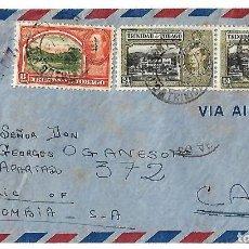 Sellos: TRINIDAD Y TOBAGO 1942. CARTA VOLADA CON MARCAS DE CENSURA Y LA CRUZ DE LORENA . Lote 86444556