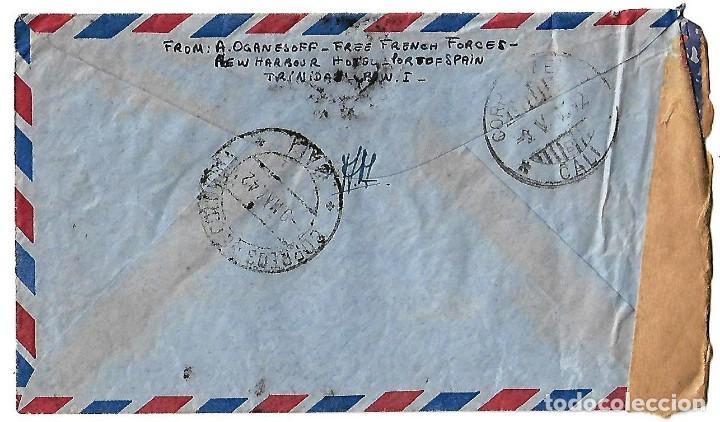 Sellos: TRINIDAD Y TOBAGO 1942. CARTA VOLADA CON MARCAS DE CENSURA Y LA CRUZ DE LORENA - Foto 2 - 86444612
