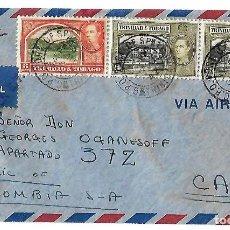 Sellos: TRINIDAD Y TOBAGO 1942. CARTA VOLADA CON MARCAS DE CENSURA Y LA CRUZ DE LORENA. Lote 86444652