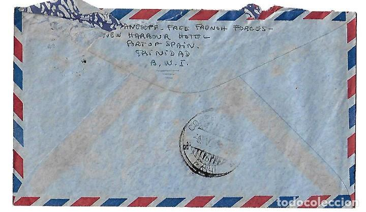 Sellos: TRINIDAD Y TOBAGO 1942. CARTA VOLADA CON MARCAS DE CENSURA Y LA CRUZ DE LORENA - Foto 2 - 86444684