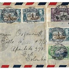 TRINIDAD Y TOBAGO 1943 CARTA VOLADA CON MARCAS DE CENSURA ENVIADA DESDE PORT OF SPAIN