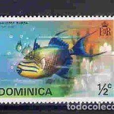 Sellos: PECES. DOMINICA. SELLO AÑO 1975. Lote 86669128