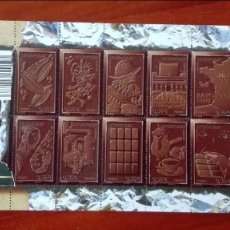 Timbres: FRANCIA HOJA BLOQUE CHOCOLATE. Lote 87357212