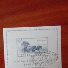 Sellos: POLONIA HOJA BLOQUE SEDA. ORIGINAL. Lote 87357604