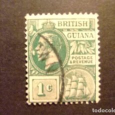 Sellos: GUYANE BRITANNIQUE 1913 - 17 GEORGE V YVERT 113 FU. Lote 89511332