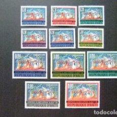 Sellos: HAITI 1968 CÉRÉMONIE DU BOIS CAÏMAN YVERT 593 / 96 + PA 363 / 69 MNH . Lote 89852952