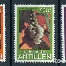 Sellos: ANTILLAS HOLANDESAS 1979 IVERT 585/7 *** FLORA - FLORES DIVERSAS. Lote 91540800