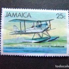 Sellos: JAMAICA 1984 HIDROAVIÓN YVERT 594 FU. Lote 91587090