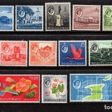 Sellos: TRINIDAD 176/89** - AÑO 1960 - ARQUITECTURA - MAPAS - MONUMENTOS - FLORA - FAUNA - AVES. Lote 94772099