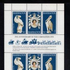 Sellos: BARBADOS 449 HB** - AÑO 1978 - 25º ANIVERSARIO DE LA CORONACIÓN DE LA REINA ISABEL II. Lote 95920735