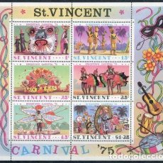Sellos: SAN VICENTE 1975 HB IVERT 4 *** CARNAVAL DE KINGSTOWN - FOLCLORE. Lote 97775103