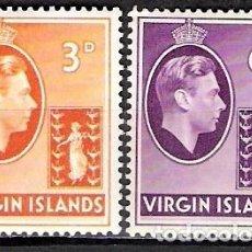 Sellos: ISLAS VIRGENES 1938 - SCOTT 81,82 - NUEVO. Lote 98426971
