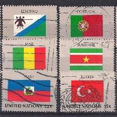Briefmarken - NACIONES UNIDAS - LOTE 12 BANDERAS ESTADOS MIEMBROS - USADO - 98911679