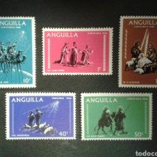Sellos: ANGUILLA. YVERT 28/32. SERIE COMPLETA NUEVA SIN CHARNELA. NAVIDAD. REYES MAGOS. Lote 100009940
